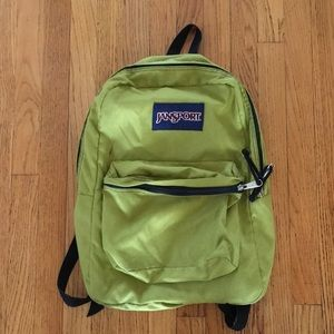 Olive Green Jansport backpack, great condition